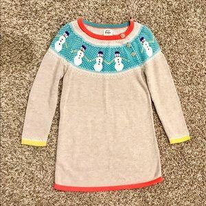Mini Boden Dresses - Mini boden knit/sweater dress. Snowman ⛄️ Size 4-5